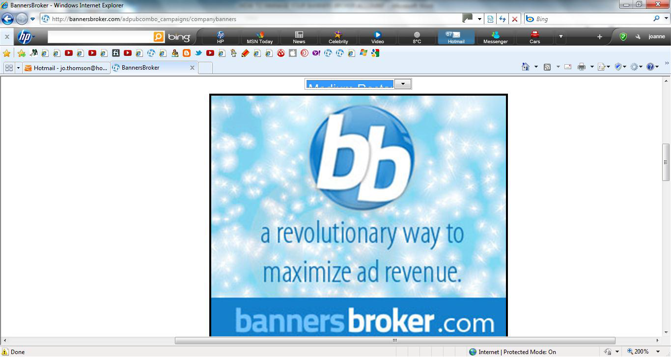 Banners broker impressions bank